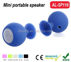 Best Mini Portable Octopus Golf Ball Silicone Speaker Subwoofer with Sucker Cup Suction Stand for Smartphone