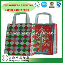 Customized Sizes Paper Grocery bags,gift paper bag with handles,luxury shopping paper bag