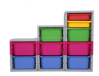 NEW design plastic storage box partition with hinged lid