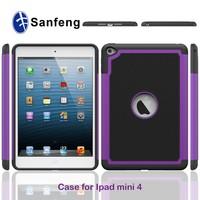 wholesale purple pc black silicon football defender case for ipad mini 4