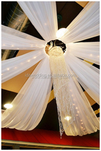 chiffon ceiling draperies/Ceiling drape portable pipe and drape kits/hanging ceiling decorations