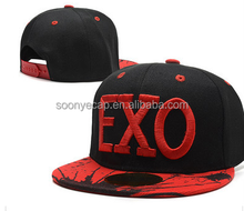 promotion/Snapback/EXO Fashion Hiphop dancing flat cap embroidery snapback caps