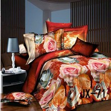 2015 Wholesale colorful roses 3D wedding hand stitch bed sheet
