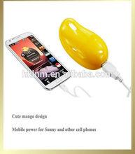 Beautiful Mango Portable Power Bank For all mobile 2600mah power bank