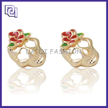 alibaba hot sale newest design Unique Style Fashion Earring,Skull Earrings For Boys,Human Ear Model Without Pollution