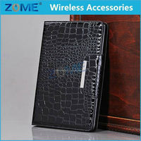 new products for ipad mini great taste book cover cool style crocodile pu leather case