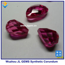high quality drop checker cut 3# synthetic ruby corundum stone on sale