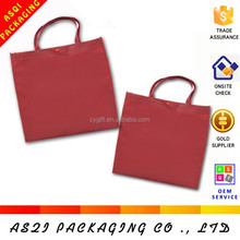 wholesale cheapest fashionable reusable pp woven fabric printable X stitching wine red bag woman 2015 for shopping