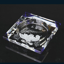 promotional nice clear crystal ashtray for wedding favor
