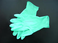 Super quality green chemical resistance nitrile gloves