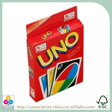 popular playing card, wholesale 450gsm UNO card game printing