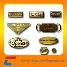 Furniture Brand golden Brass etch logo metal plate With Customized Printing
