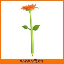 Flower design promotional gift pen