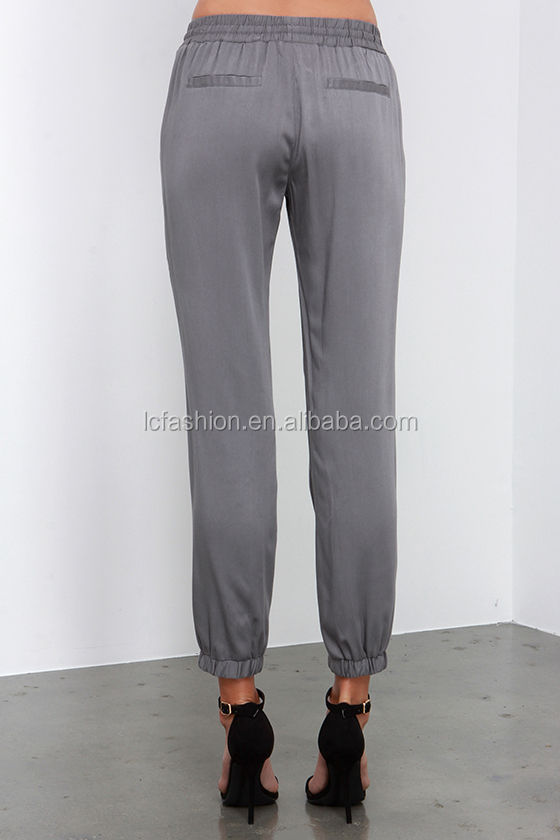 Elegant Cute Slate Blue Joggers  Terry Knit Pants  Joggers  4300