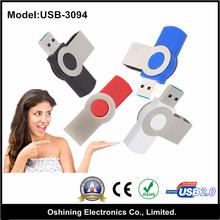 Fast swivel colorful usb flash drive 3.0 with customize logo (Model: USB-3094)