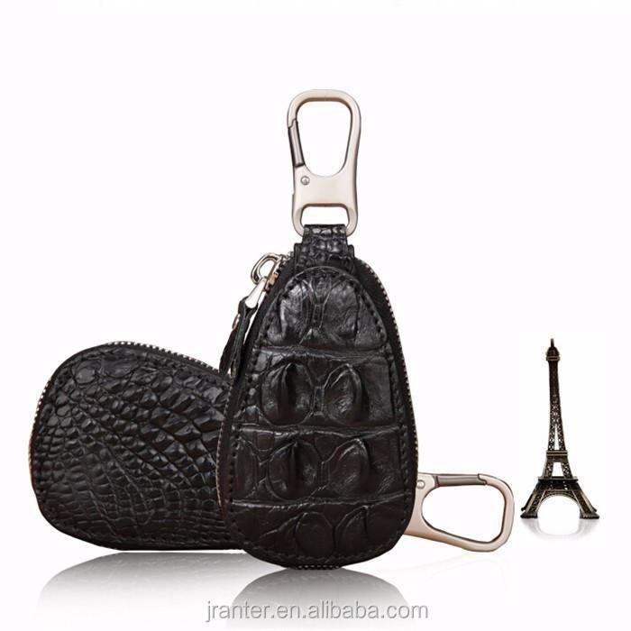 Luxury handmade key case for car genuine crocodile leather car key case for BMW TOYOTA _11