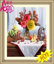 ييوو الزهور والفاكهة kaina قناع الساخنة وحة زيتية صورة صورة الجدار diy الكريستال الماس ديكور المنزل النفط اللوحة