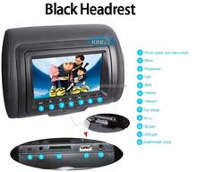 factory 7 inch digital Headrest DVD/32 bit games/IR/wireless headphone/zipper
