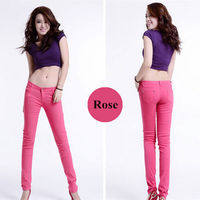 20 Colors elastic cotton lady sexy fitting skinny woman jeans girl pants