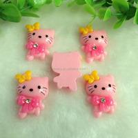 Hotsale 23*33mm Pink Rose New Hello Kitty Fashion Flat Resin Cabochons