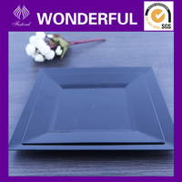 Cheap disposable plastic black plates, 6'' plates hard plastic plates