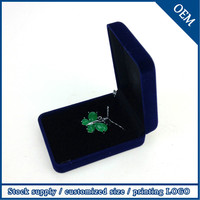 High Quality Best Selling Description Of Jewelry Box Blue Jewellery Necklace Box