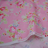 Pink Floral 100% Cotton Fabric / Japanese printed cotton fabric