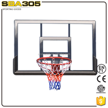 removable basketball glass backboards with hoops