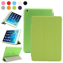 Wholesale PU leather case for iPad mini with smart function in green case