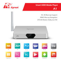 2014 Egreat brand new generation Android HDD Media Player quad core box for 3D Blue-ray 4K Android HDD Media Player