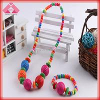 Fashion candy Princess kids bulk bead wholesale chunky bubblegum necklace jewelry set for little girls(QXNK150417)