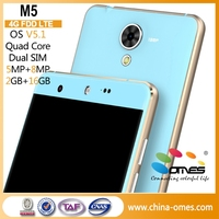 "Metal Frame M5 5"" MT6735 FDD 4G LTE Android 5.1 cellphone 4G quad core"