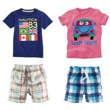 2014 de verano de algodón cómodo niños ropa de niño de conjuntos