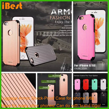 luxury light plastic bumper waterproof plastic rose gold phone luggage case for iphone 6/6s