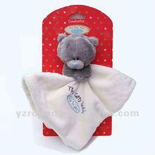 Plush soft baby blanket plush animal blanket for baby