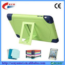 PC Silicon Stand Cover Shockproof Case For iPad Mini 1 2 3