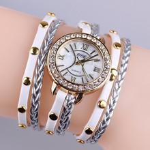 Latest bracelet watch with genuine leather/lady wrist watches for women BWL029
