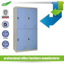 Modern 4 compartment steel lockers/4 door vertical school clothing steel locker