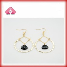 Wholesale cheap and fashion black heart huggie earring (QXER15035)
