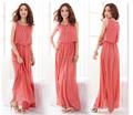 Hjl-1007 Veri Gude Plus Size 2015 verão das mulheres longo chiffon vestido de mulheres baratos Bohemian maxi beach dress