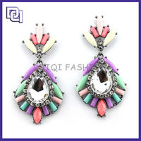 Europe and America Hot Selling New Resin Earring,Colorful Magnetic pendant Earring,Unique Crystal Stud Earring For Women