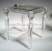 Custom sizes table display acrylic home supplies fashion decoration, transparent table