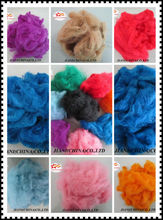 Dope dyed polyester fiber/recycled fiber,cotton fiber for yarn,filling material