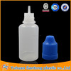 Chinese Supplier PE 30ML Plastic e-liquid bottle,essential oil bottle with childproof cap and long tip
