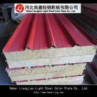 Hot Sale!Rock wool sandwich panel for porta cabins prefab housesl-Waterproof fireproof heat preservation