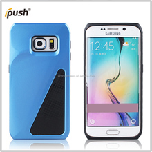 2 in 1 blue color slim phone case combo cover for Samsung galaxy S6 edge