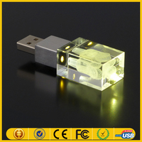 Wholesale USB Flash/Crystal Thumbdrive /USB Modern with LED Logo