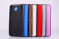 Carbon Fiber Leather Hard Case For Google Nexus 6