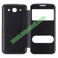 Crazy Horse Leather Plastic Flip Battery Back Flip Case for Samsung Galaxy Mega5.8 i9150