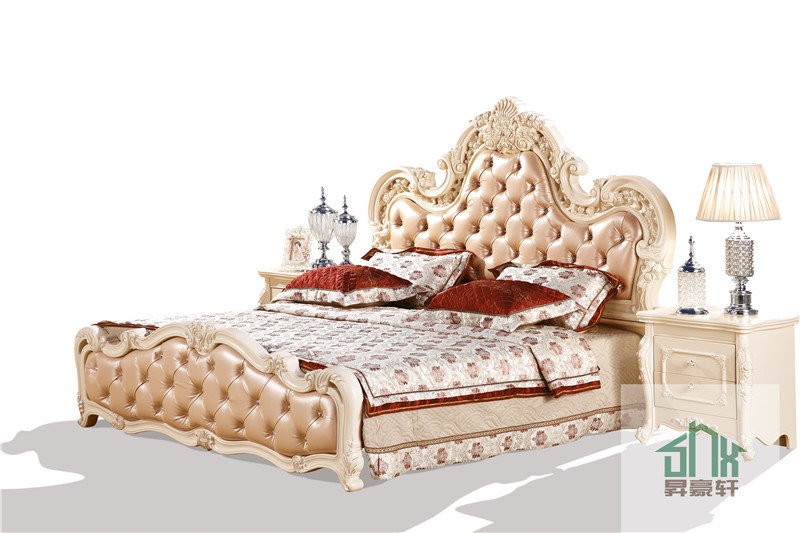 French Style Bed Room Furniture Ha 916 French Sofa Bed Wood Double Bed Models Wood Double Bed